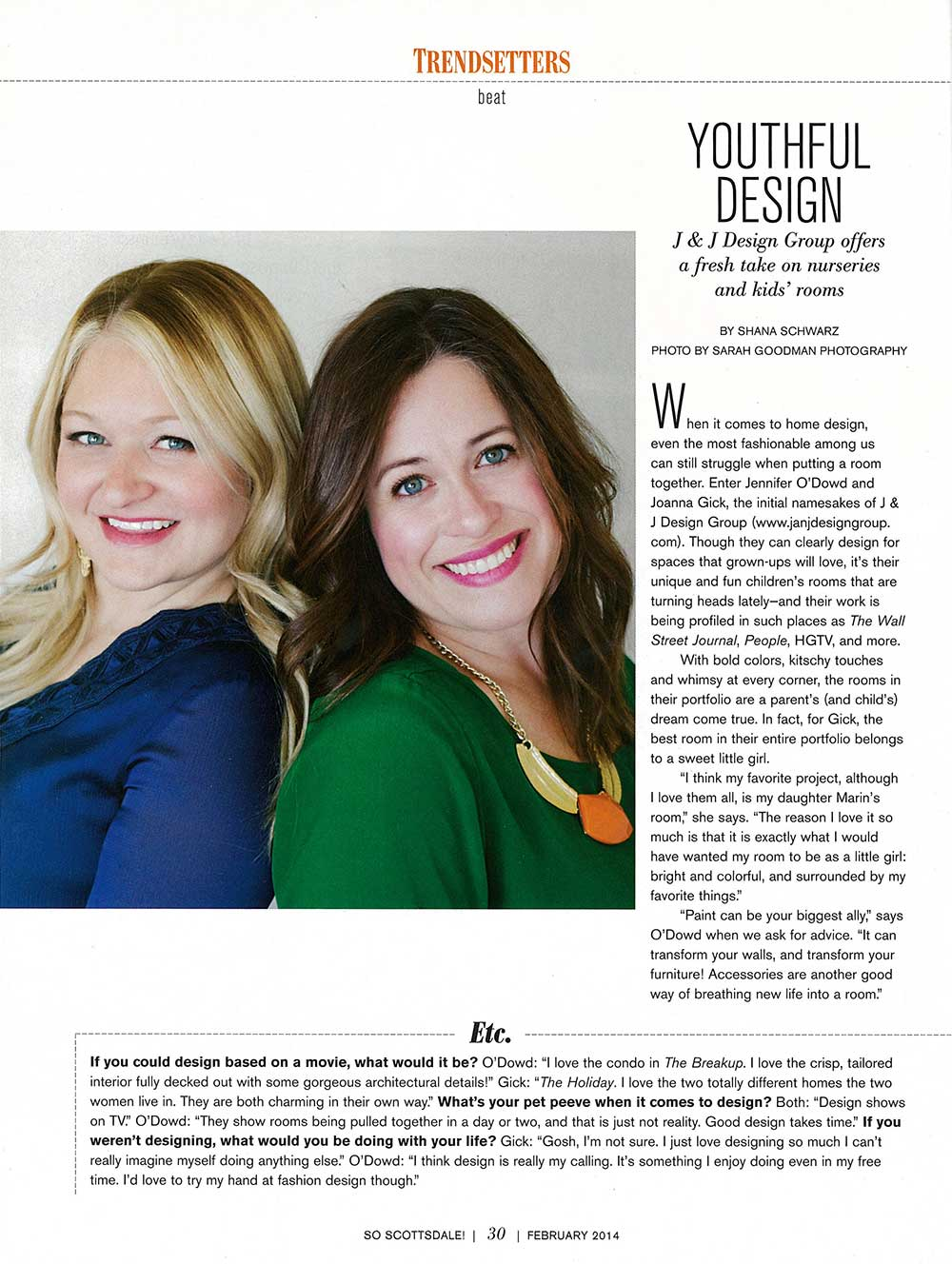 J and J Design Group - So Scottsdale Press