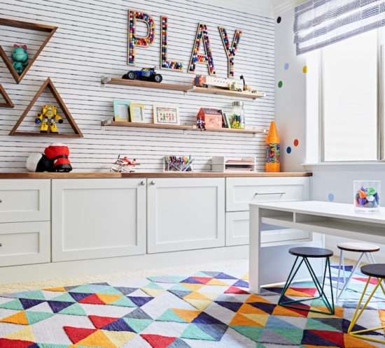 Colorful Playroom Design: J & J Design Group