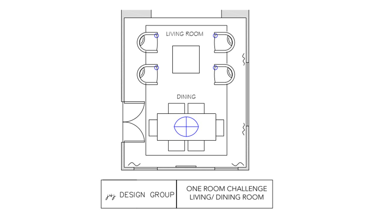 One room challenge week 3 floorplan layout
